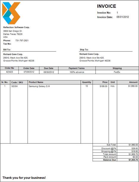 Accounting Software Screenshot