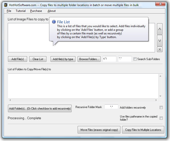 Create Multiple File Folders from Text Files Screenshot