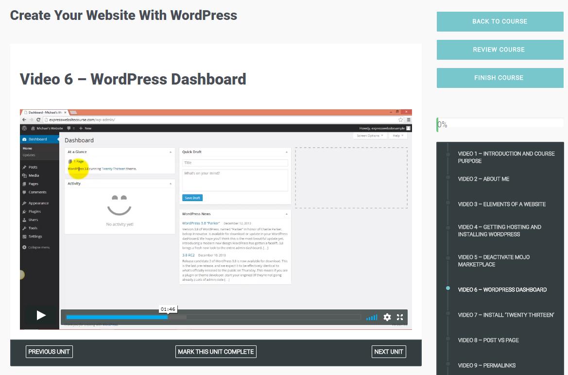 Create Your Membership Website with WordPress Screenshot