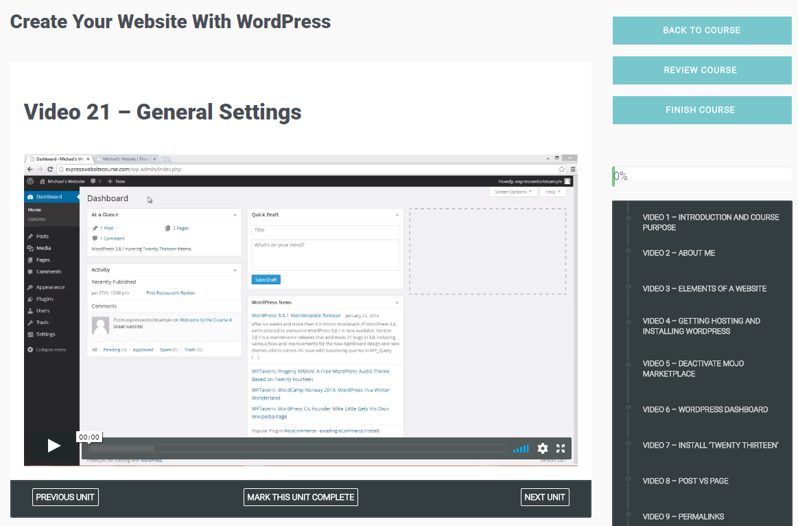 Create Your Membership Website with WordPress, Learning and Courses Software Screenshot