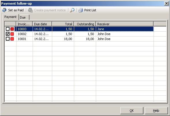 Cretica Invoice Professional, Accounting Software Screenshot