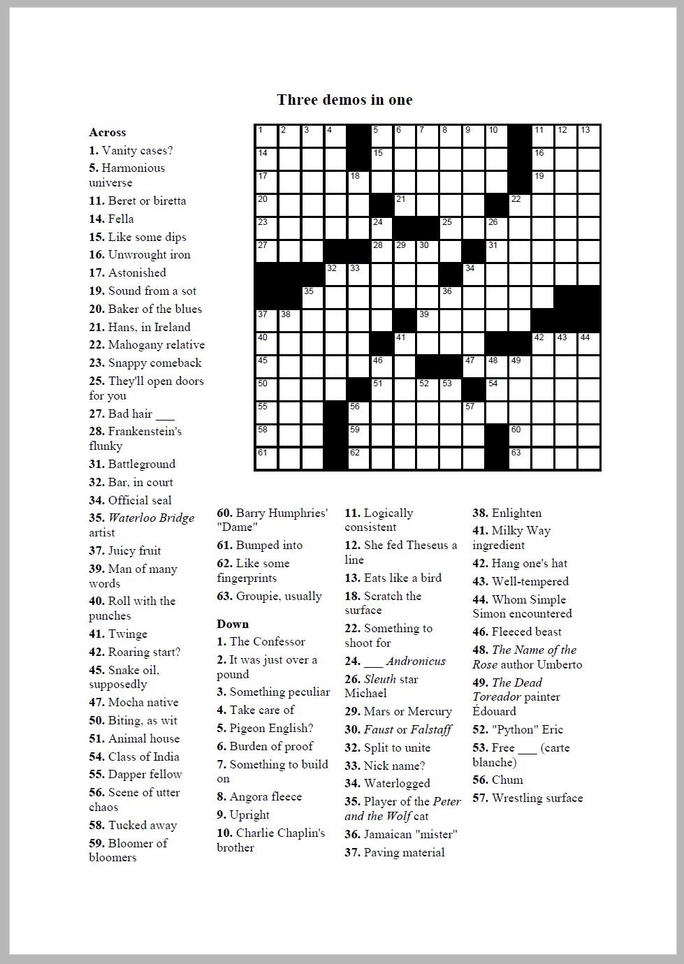 Crossword Compiler Bundle, Educational Software Screenshot