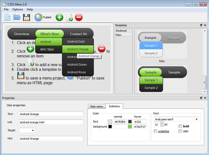 CSS3 Menu Unlimited Website License Screenshot