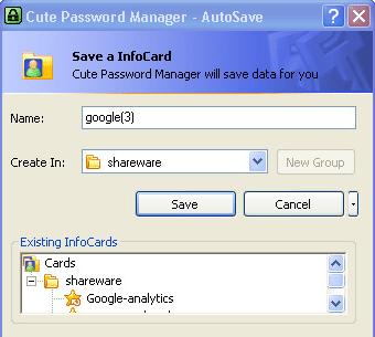 Cute Password Manager Screenshot