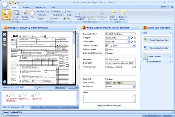 DA Document Manager Screenshot