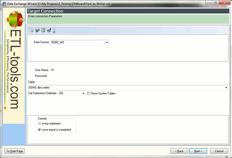 Data Exchange Wizard, Development Software Screenshot