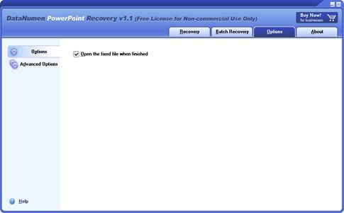 DataNumen PowerPoint Recovery, Presentation Software Screenshot