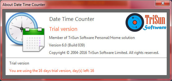 Date Time Counter, Productivity Software, Time Tracking Software Screenshot