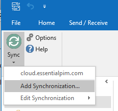 DAV-Outlook Sync Screenshot