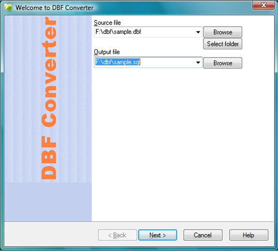 Development Software, DBF Converter Screenshot