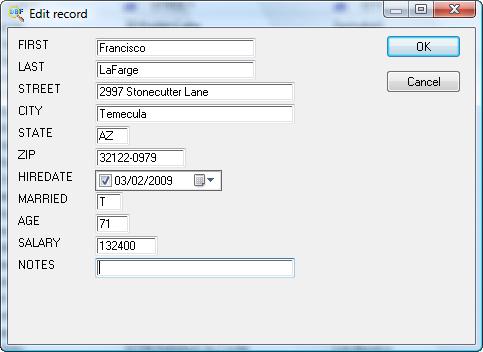 Development Software, DBF Viewer 2000 Screenshot