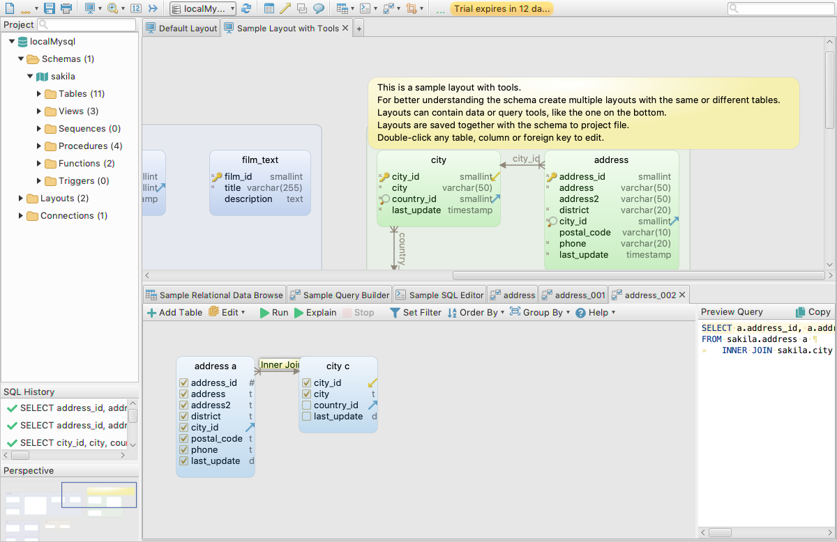 DbSchema: Database Diagram Designer, Development Software, Database Software Screenshot