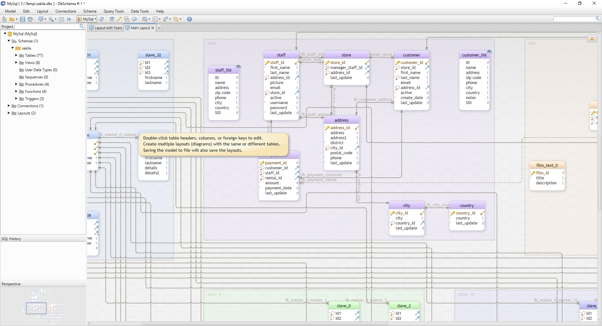 DbSchema: Database Diagram Designer Screenshot