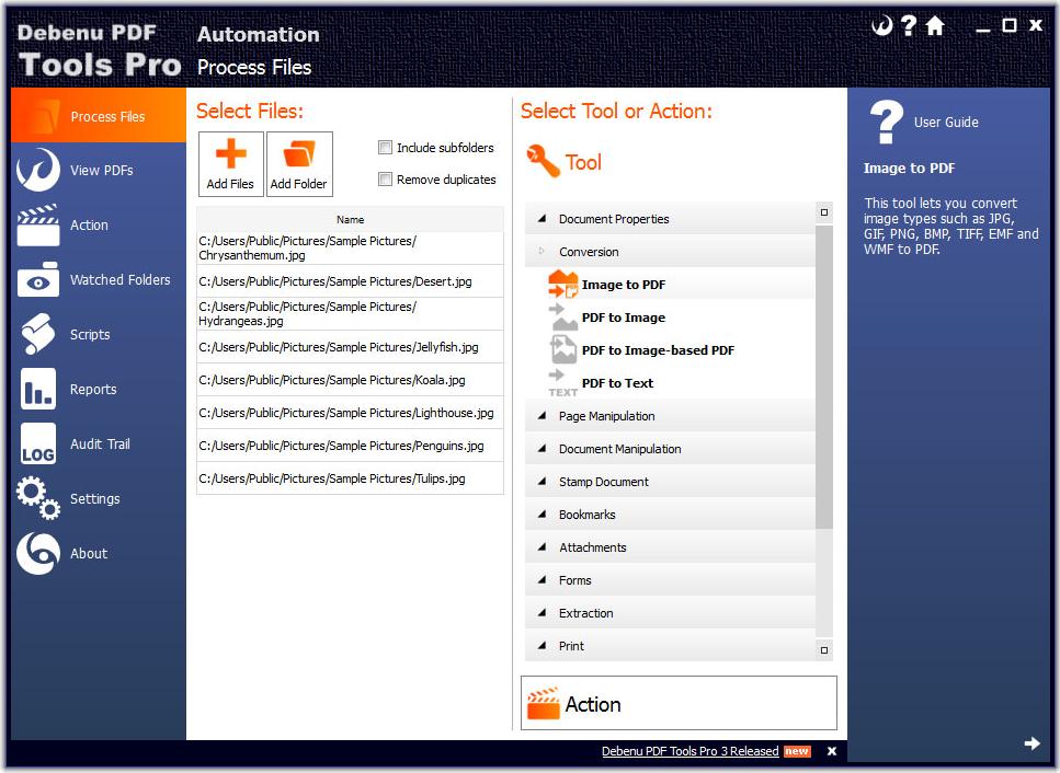 Debenu PDF Tools Pro Screenshot