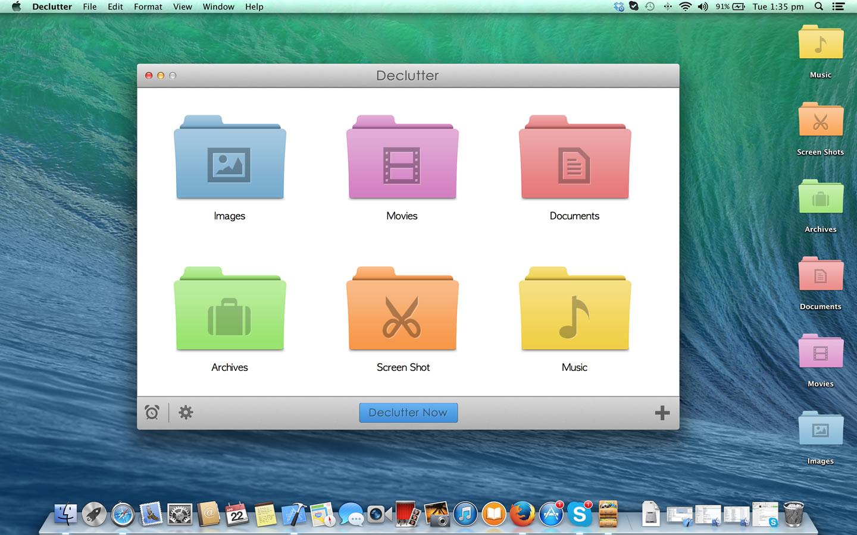 Declutter, Organization Software Screenshot