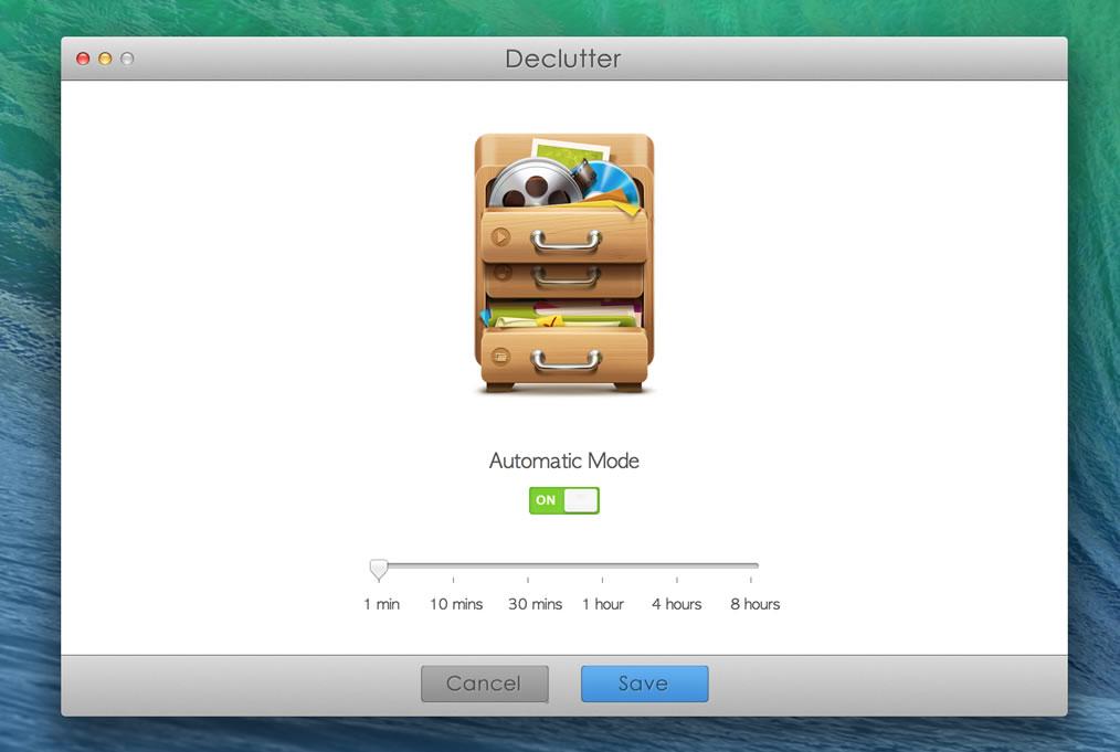 Organization Software, Declutter Screenshot