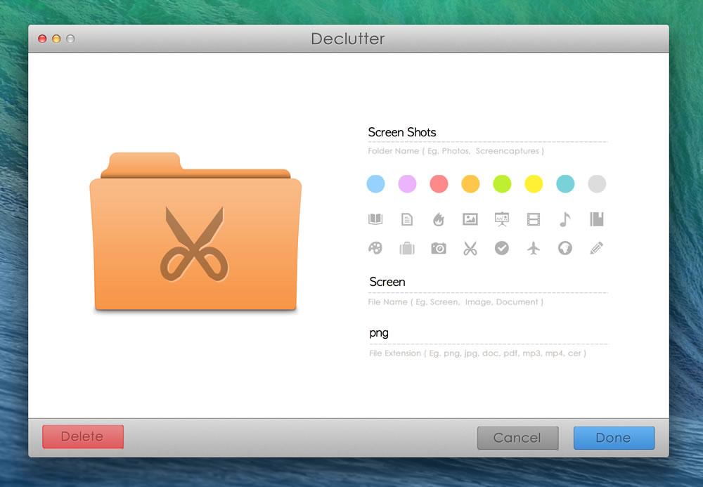 Declutter, Productivity Software Screenshot