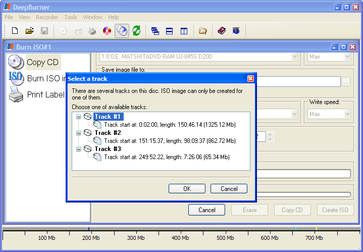 DeepBurner Pro, Video Software Screenshot