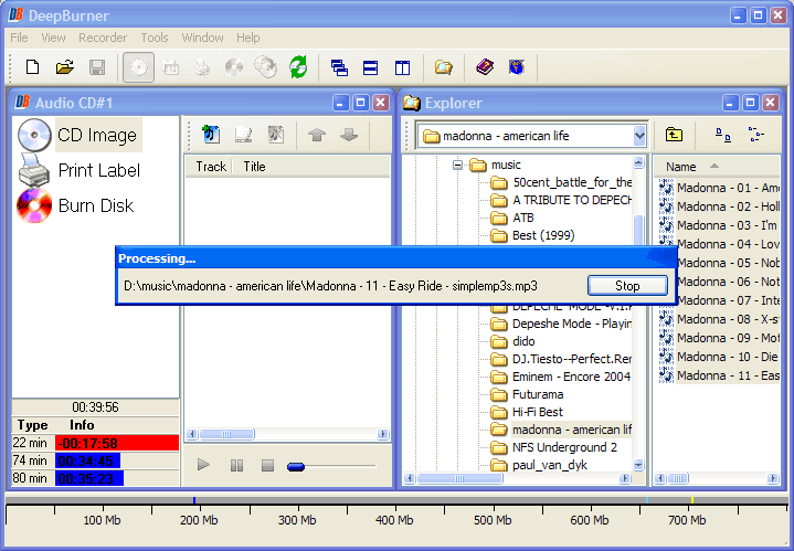 DeepBurner Pro, DVD Burner Software Screenshot