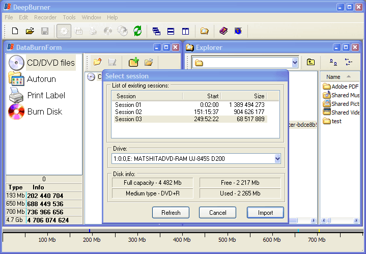 DVD Burner Software Screenshot