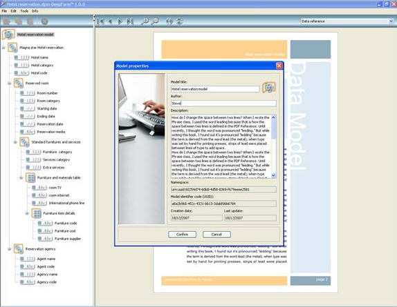 HTML Form Software, DeepForm Screenshot