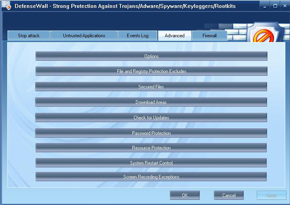 DefenseWall Personal Firewall, Security Software, Internet Security Software Screenshot