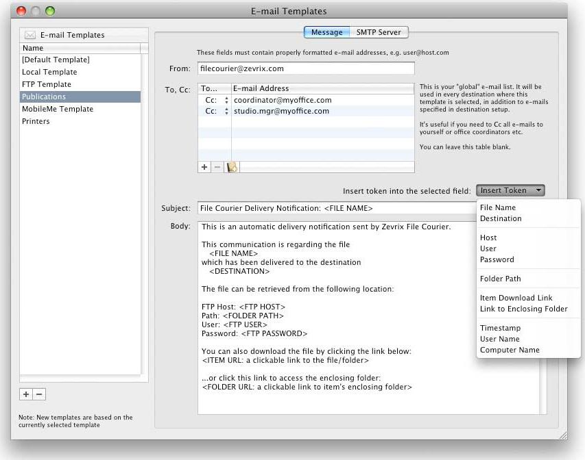 Deliver, FTP Software Screenshot