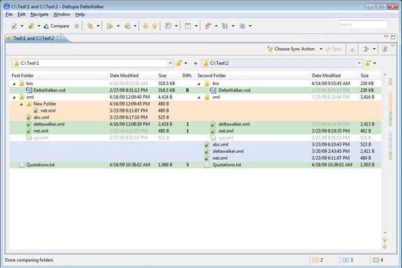 DeltaWalker, File Management Software Screenshot