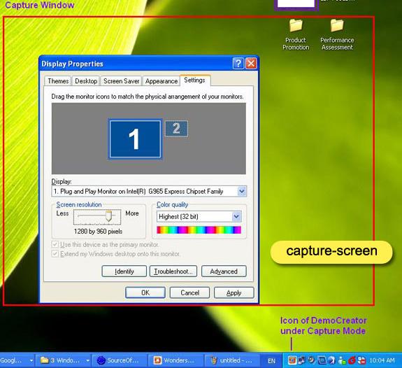 DemoCreator, Educational Software Screenshot