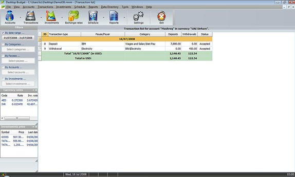Desktop Budget, Business & Finance Software Screenshot