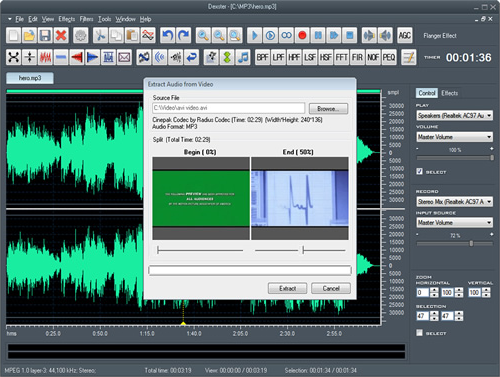 Recording Studio Software, Dexster Screenshot