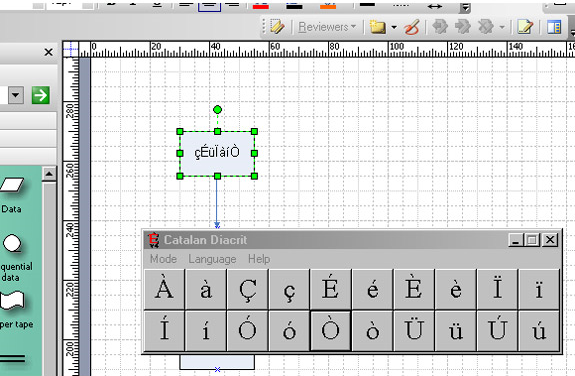 Fonts and Font Tools Software, Diacrit Screenshot