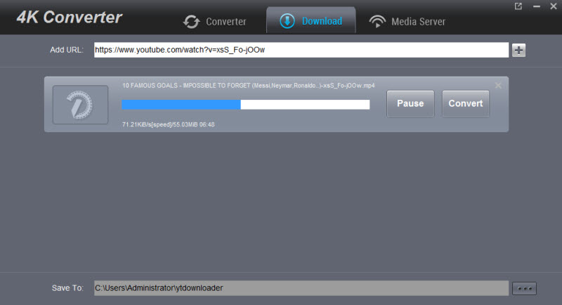 Dimo 4K Video Converter Screenshot