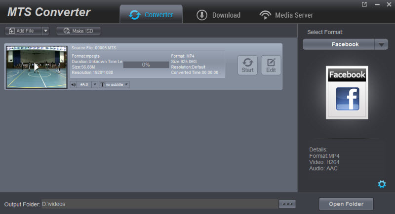 Dimo MTS Converter Screenshot
