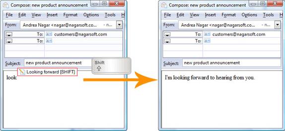 Direct Access, Typing Software Screenshot
