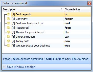 Direct Access, Productivity Software Screenshot