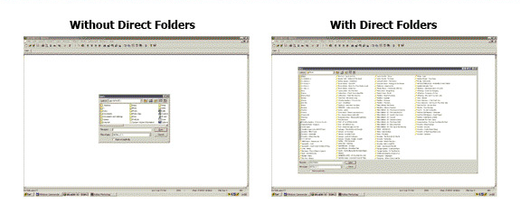 Direct Folders, Folder Software Screenshot