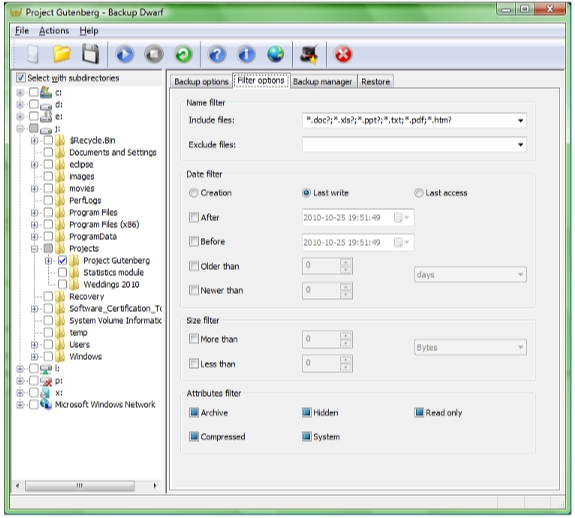 Directory Lister Pro and Backup Dwarf Professional Screenshot 15