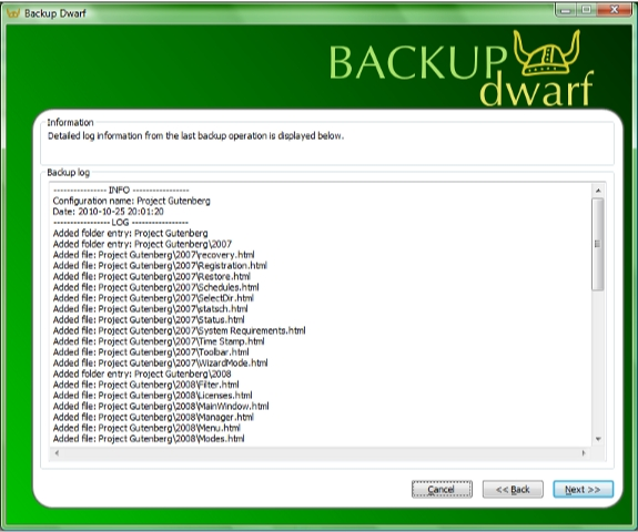 Directory Lister Pro and Backup Dwarf Professional Screenshot 16