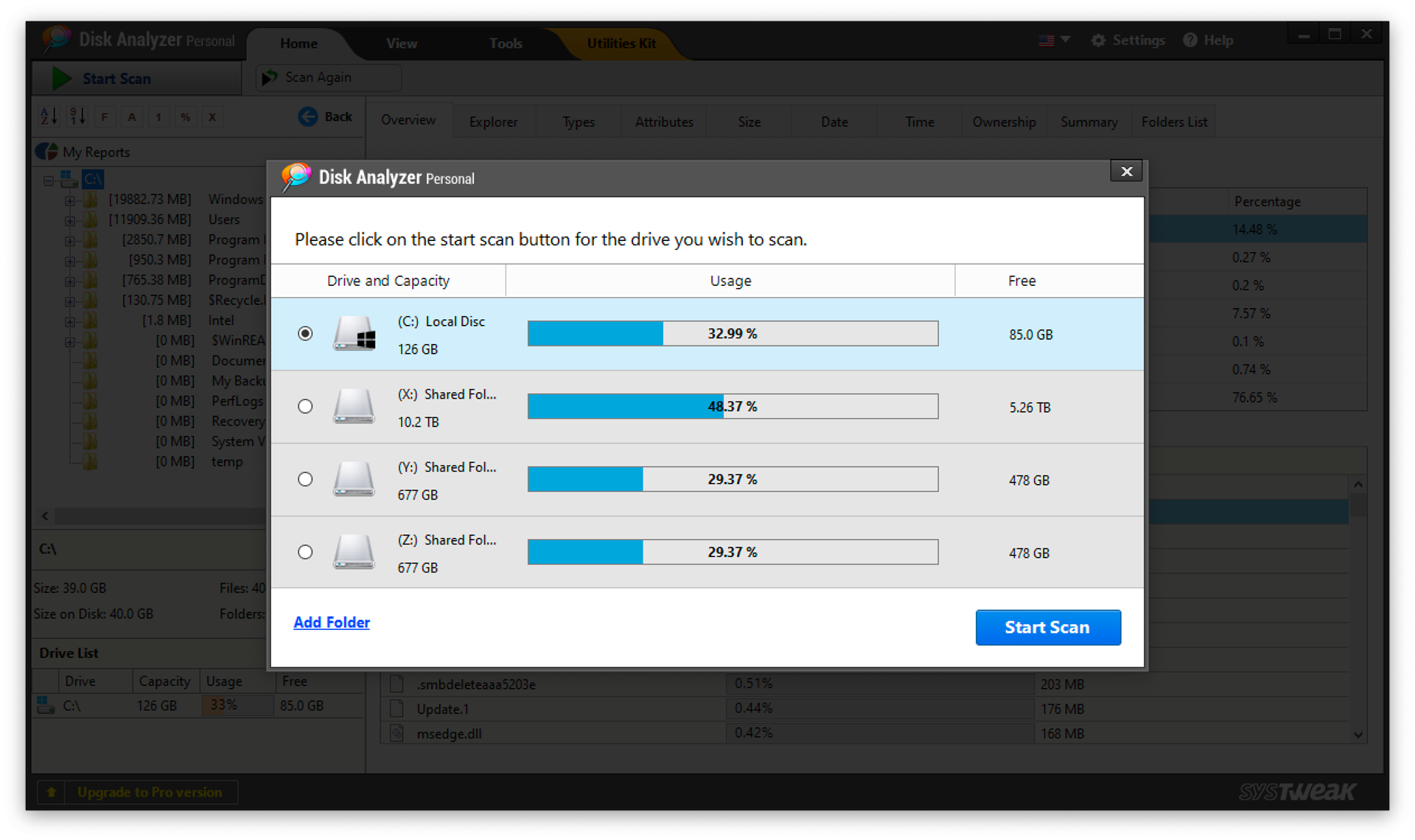 Disk Analyzer Pro (Windows) Screenshot