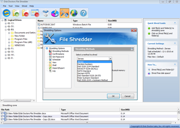 Disk Doctors Bundle - Data Sanitizer, File Shredder and Drive Manager, Software Utilities, Hard Drive Software Screenshot