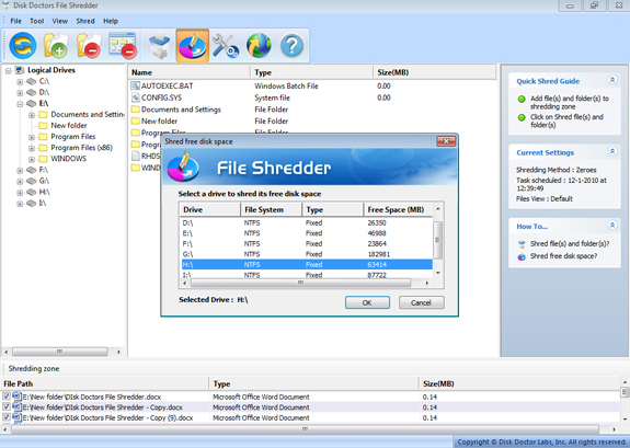 Software Utilities, Hard Drive Software Screenshot