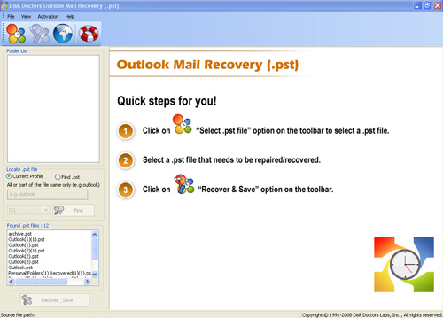 Disk Doctors Windows Recovery Bundle, Recovery Software Screenshot