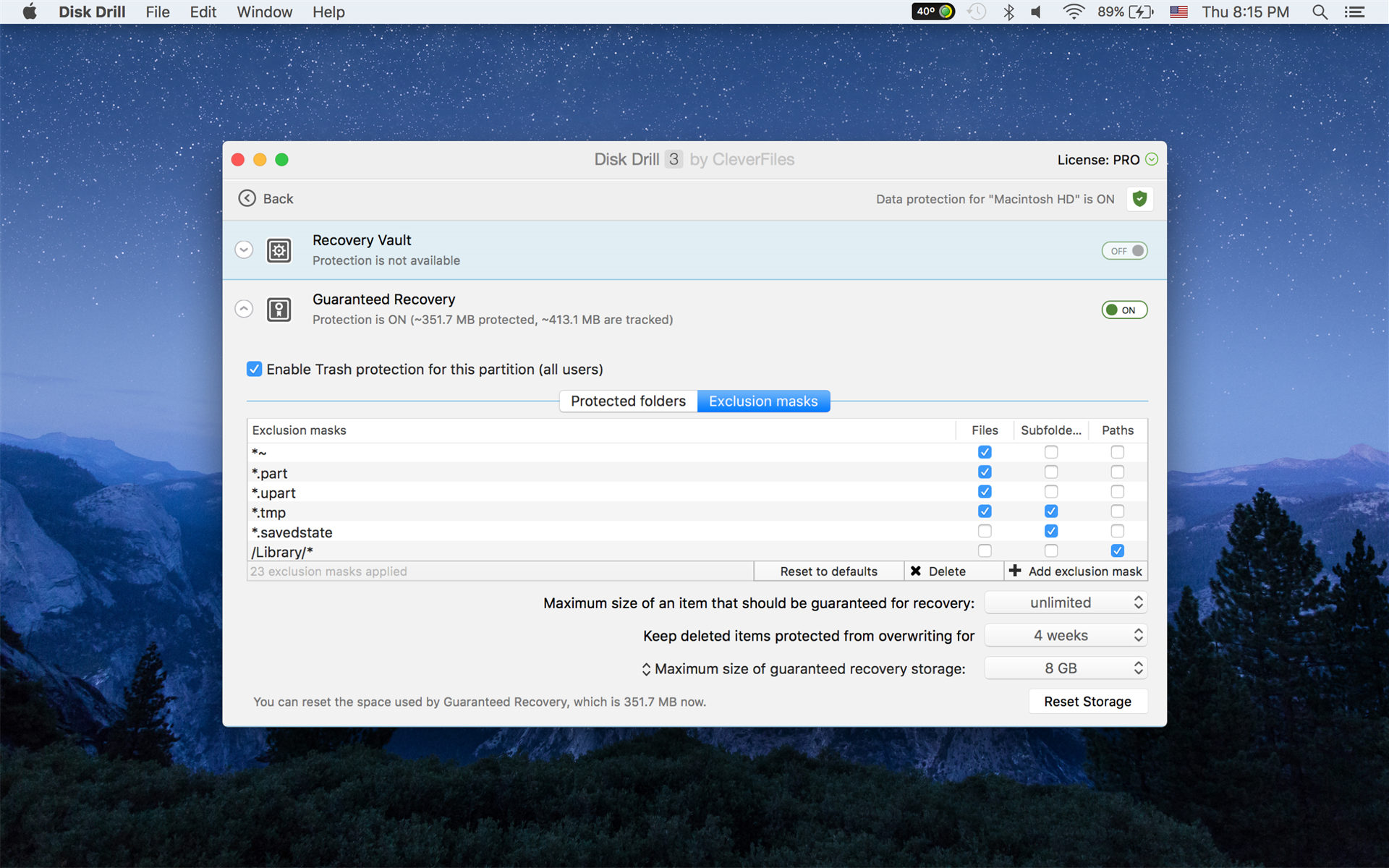 Recovery Software, Disk Drill PRO Screenshot