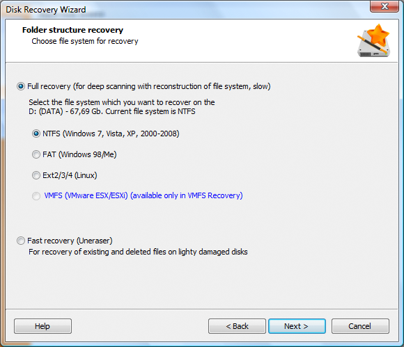 Disk Recovery Wizard  Standard License, Recovery Software Screenshot