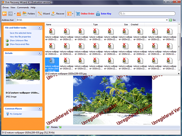 Software Utilities, Disk Recovery Wizard  Standard License Screenshot