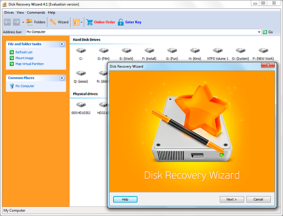 Disk Recovery Wizard  Standard License Screenshot