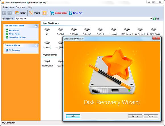 Disk Recovery Wizard  Standard License Screenshot