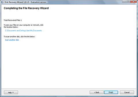 Disk Recovery Wizard  Standard License Screenshot 9