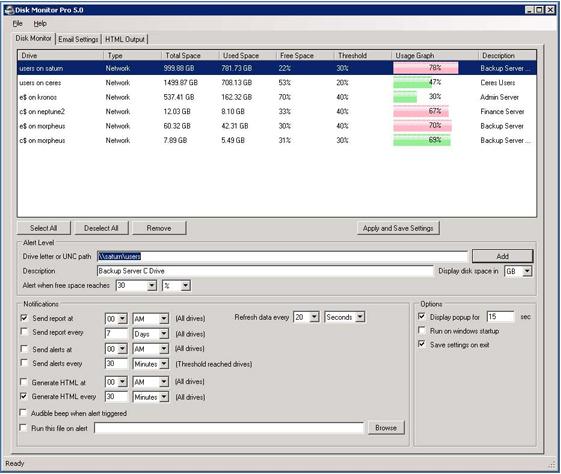Diskmonitor Pro 5.0 Screenshot